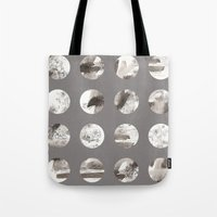 moon phases Tote Bags featuring Moon phases by Dreamy Me