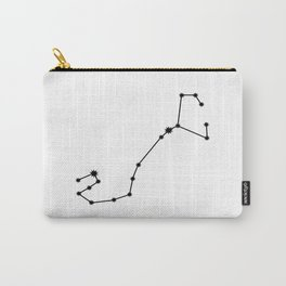 Scorpio Star Sign Black & White Carry-All Pouch