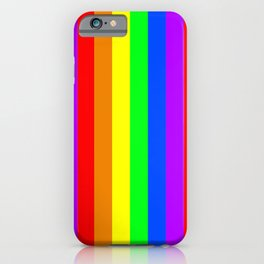 Rainbow flag - Vertical Stripes version iPhone Case