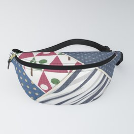 Abstract pattern .Textile patchwork patchwork . Fanny Pack