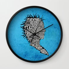 Typography Marla Singer Wall Clock