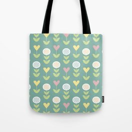 Flower pattern Tote Bag