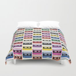Cassettes In a Row Duvet Cover