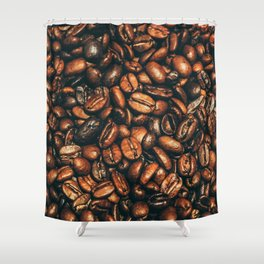 coffee floor Shower Curtain