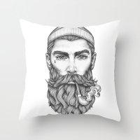 sailor Throw Pillows featuring Sailor by Thea Nordal