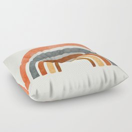 Abstract Rainbow 88 Floor Pillow