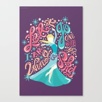 risa rodil Canvas Prints featuring Snow Queen by Risa Rodil