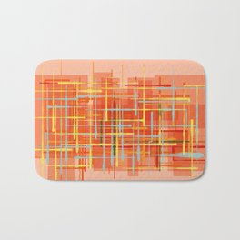 Abstract Orange Terminal Bath Mat