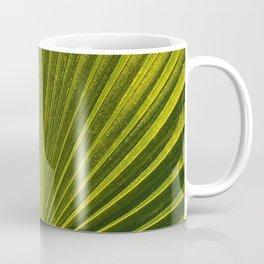 Green Plam Leaf Coffee Mug