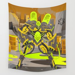radioactive giant toxicrobot in power plant Wall Tapestry
