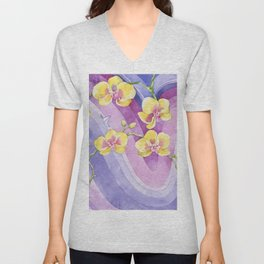 Orchids_Above a waves Unisex V-Neck