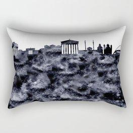 Athens Greece Skyline Rectangular Pillow
