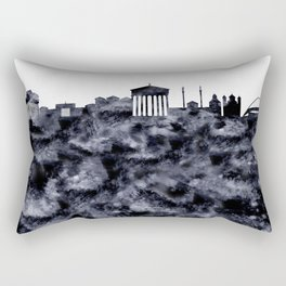 Athens Greece Skyline Rectangular Pillow