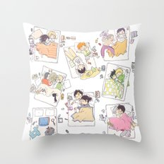 All the zzz Throw Pillow