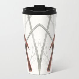 What a Card -- Cardinal in forest Travel Mug