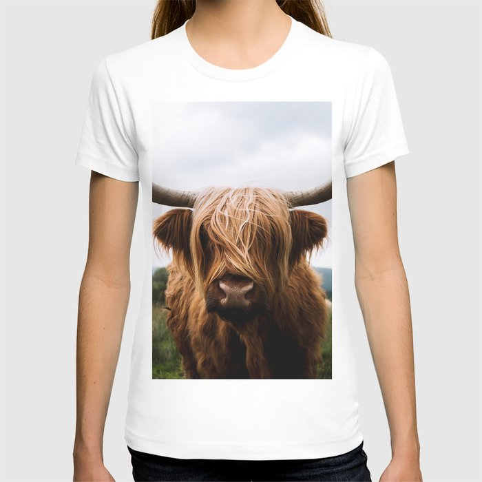 Scottish Highland Cattle in Scotland Portrait II T-shirt