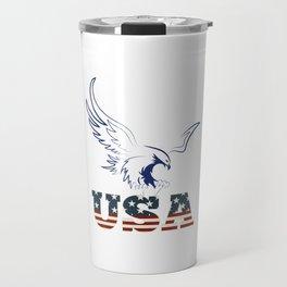 American Eagle holding usa Travel Mug