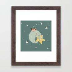 Moon Nap Framed Art Print