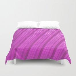 Stripes II - Hot Pink Duvet Cover