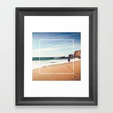 Long walks on the beach Framed Art Print
