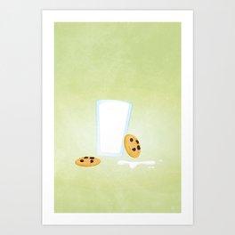 Cookies and Milk Food Poster Art Print