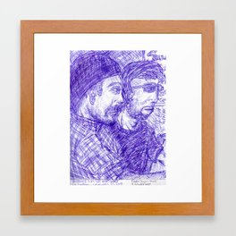 Craig  and Skye Framed Art Print