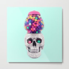 BUBBLESKULL Metal Print