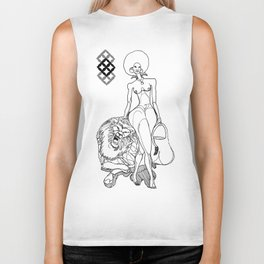 blackmagicwoman (Black & White illustration) Biker Tank