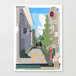Japan Still Life 003   路地 Canvas Print