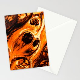 Abstract Gold Fire Paint IV Stationery Cards