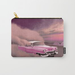 A pink cadillac and the Giza Pyramids Carry-All Pouch