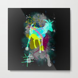 Goat from the Zodiac Metal Print