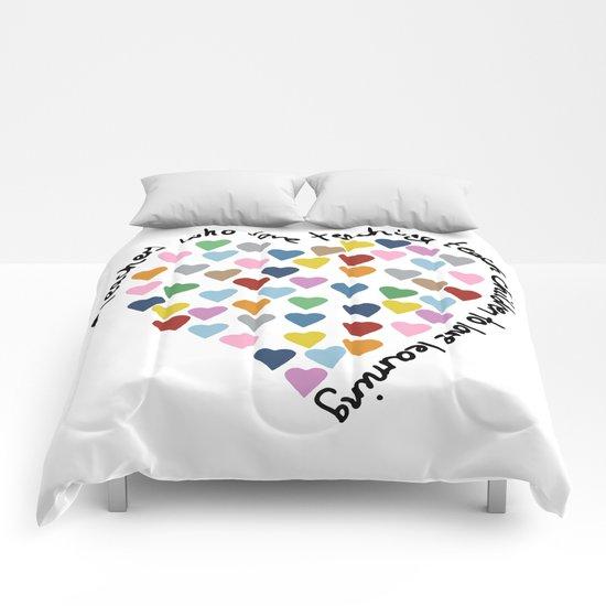 Hearts Heart Teacher Comforters