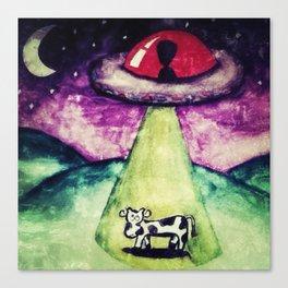 Cow Abduction Canvas Print