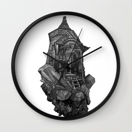 Selenite Lighthouse Wall Clock
