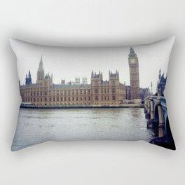 Big Ben on the Thames (Photo) Rectangular Pillow