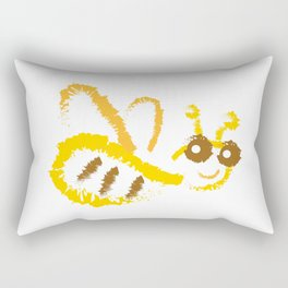 Funny bee Rectangular Pillow