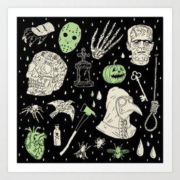 Whole Lot More Horror: BLK Ed. Art Print