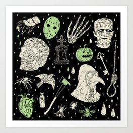 Whole Lot More Horror: BLK Ed. Art Print