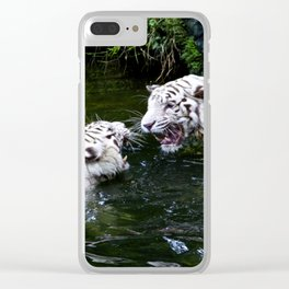 Tigers Fight Clear iPhone Case