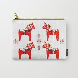 Swedish Dala Horses Carry-All Pouch
