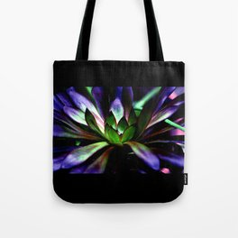 Purple and Green Leaves Tote Bag