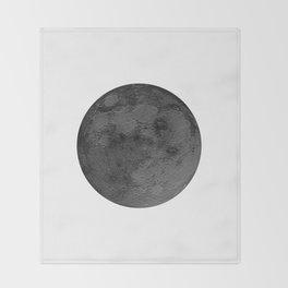 BLACK MOON Throw Blanket