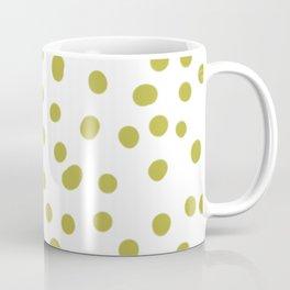 Yellow dots in white pattern Coffee Mug