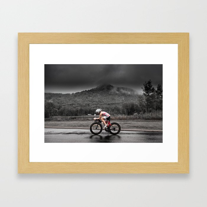 Amber Ferreira, 2014 Ironman 70.3 World Championships Framed Art Print