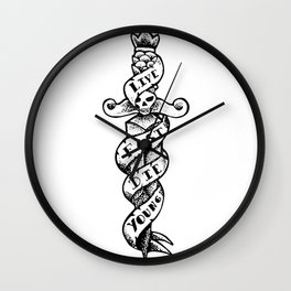 -197 Dagger- Wall Clock