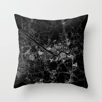 seoul Throw Pillows featuring Seoul by Line Line Lines