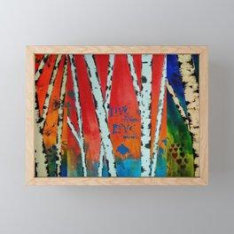 Birch Tree Stitch Framed Mini Art Print