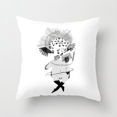 Mailing Angel Throw Pillow
