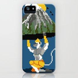 Hanuman Mountain Pixel Art iPhone Case
